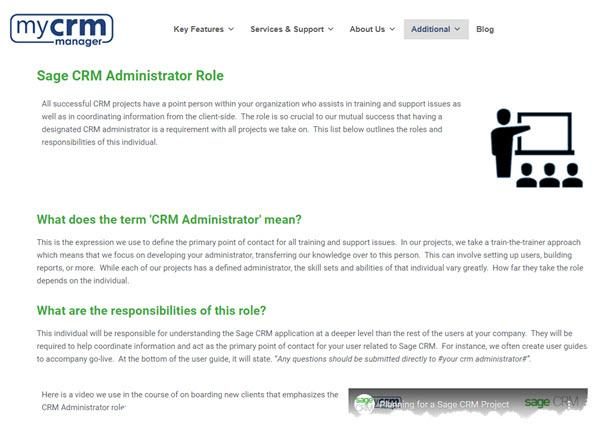 CRM Administrator in Blog