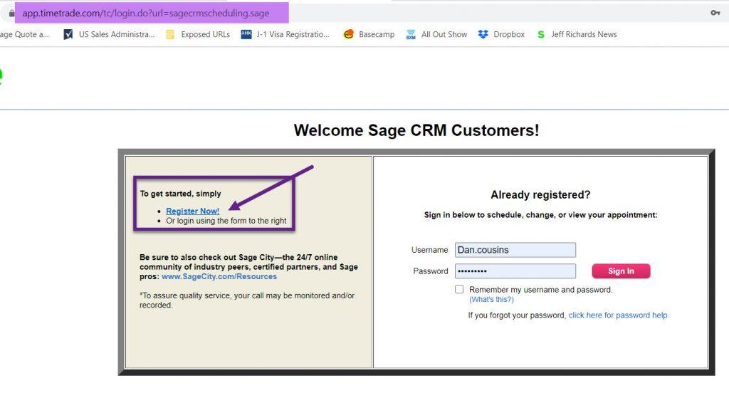 Scheduling a call with Sage Support