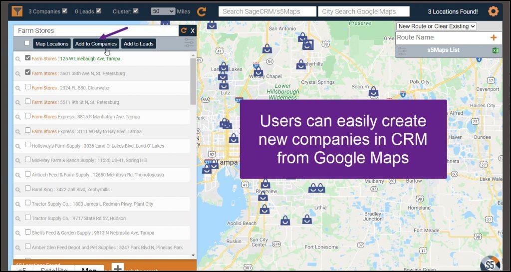 Google Maps Creating Companies