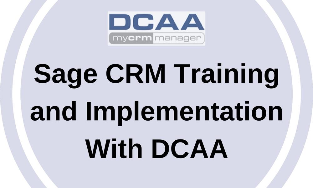 Sage CRM Training and Implementation
